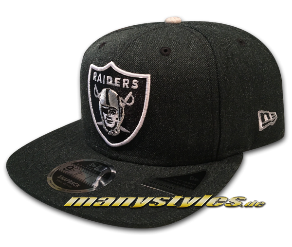 Oakland Raiders 9FIFTY NFL Heathered Hype OF Original Fit Snapback Cap Dark Original Official Team Color OTC von New Era