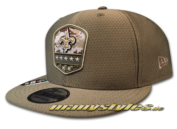 New Orleans Saints 9FIFTY NFL19 STS 950 Snapback Cap Salute to Service 2019 von New Era