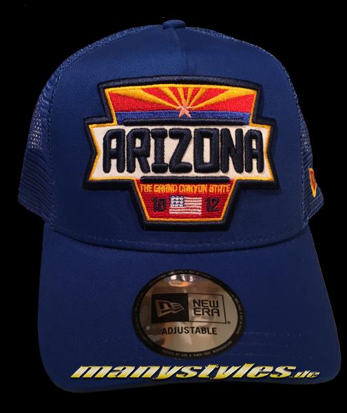 Arizona Curved Visor Trucker Adjustable Cap Royal von New Era