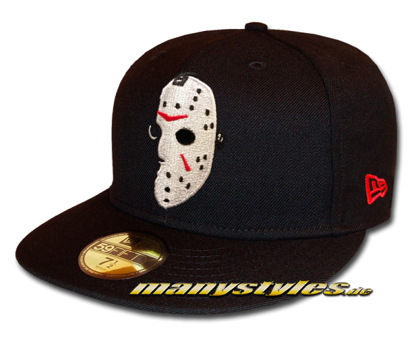 Friday the 13th 5950 59FIFTYFitted Cap Black White Red von New Era Cap