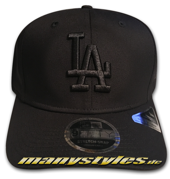 LA Dodgers MLB 9FIFTY Tonal Black 950 SS Stretch Snapback Cap Black on Black von New Era