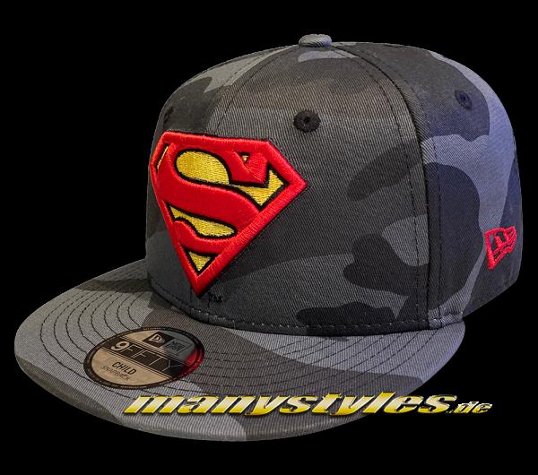 Superman DC Comic 9FIFTY CY Camo Kids Snapback Cap XCM Dark Camo von New Era
