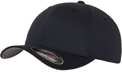 Blank Flex Fit Curved Visor Cap Dark Navy