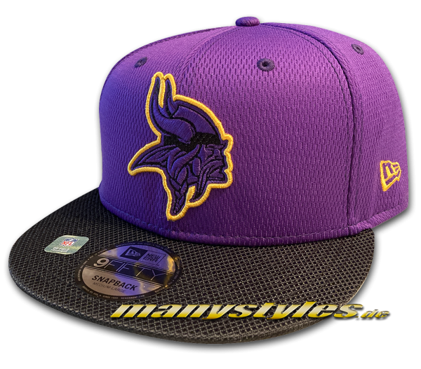 Minnessota Vikings 9FIFTY NFL21 SL RD 950 Snapback Cap Purplke Yellow OTC Sideline 2021 von New Era