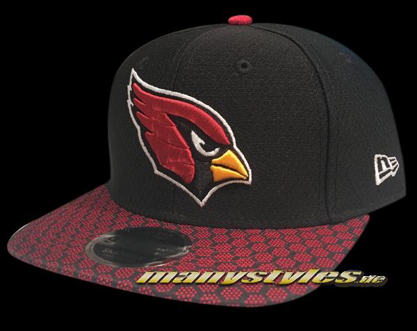 Arizona Cardinals 9FIFTY NFL Sideline 2017 On Field Snapback Cap Black Red OTC von New Era