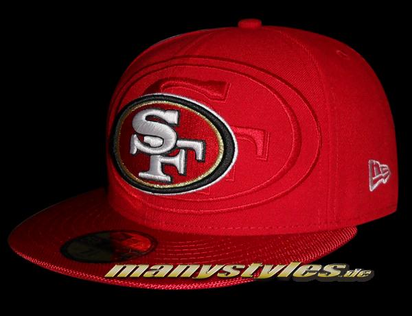 San Francisco 49ers 59FIFTY NFL on field Sideline Cap von New Era