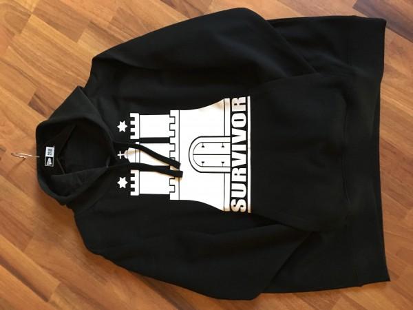 HH Hamburg Survivor exclusive Hooded Sweatshirt in Black White