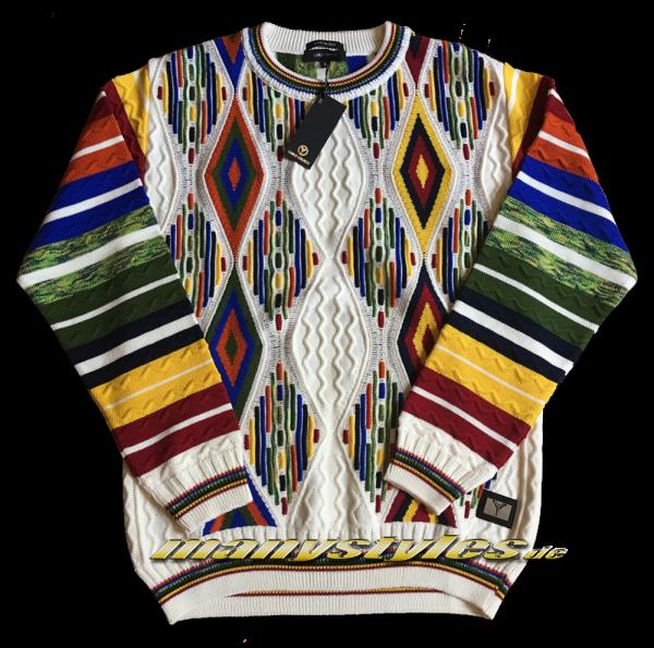 Carlo Colucci Sweater Pullover Strickpullover White Multi