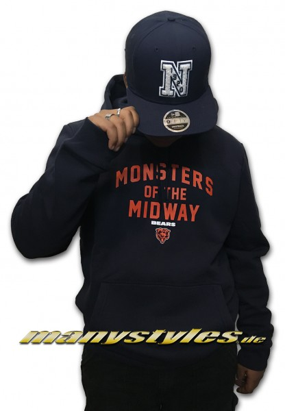 Chicago Bears NFL MOTM Bears Hoody Monsters of the Midway Navy Orange Team Color OTC von NEW ERA