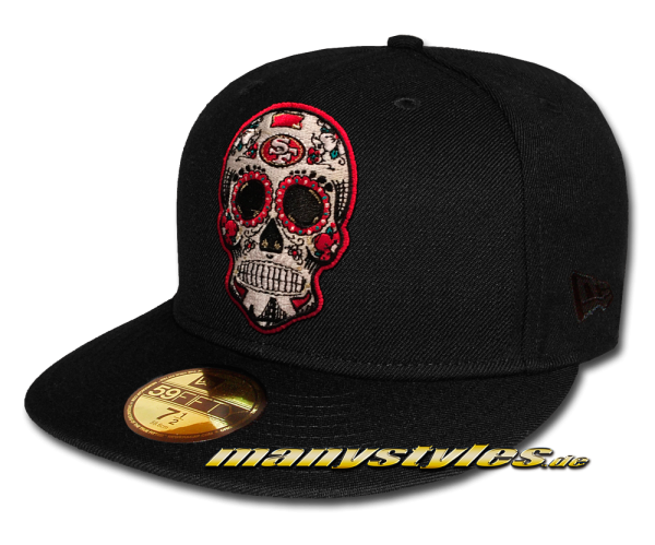 manystyles San Francisco 49ers 59FIFTY Fitted NFL Dia de Los Muertos exclusive Cap von New Era Front