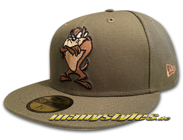 Looney Tunes Angry Taz 59FIFTY Fitted exclusive Cap in New Olive von New Era