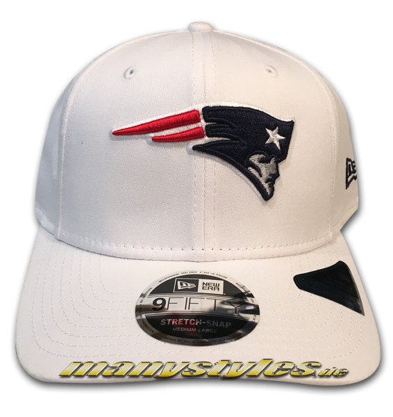 New England Patriots NFL 9FIFTY Stretch Fit Snapback Cap White von New Era