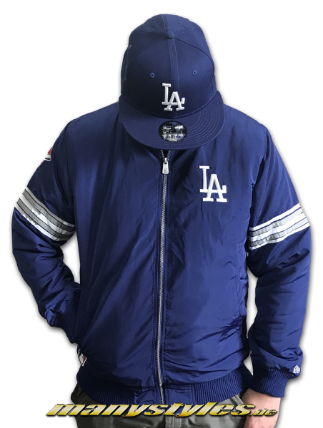 LA Dodgers MLB Team Apparel Zip Bomber Jacket Royal White OTC von New Era
