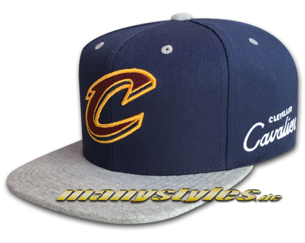 Cleveland Cavaliers NBA Navy Jersey Heather Snapback Cap Team Color von Michell and Ness