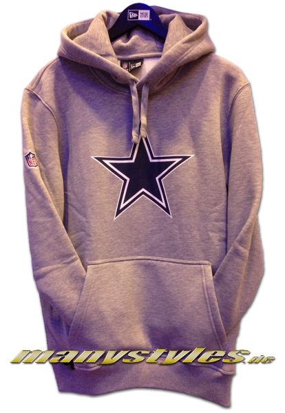 Dallas Cowboys NFL Team Logo PO Hood Hooded Heather Grey Team Color
