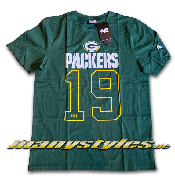 Greenbay Packers NFL on Field Graphic Tee T-Shirt Green Yellow Team Color von New Era