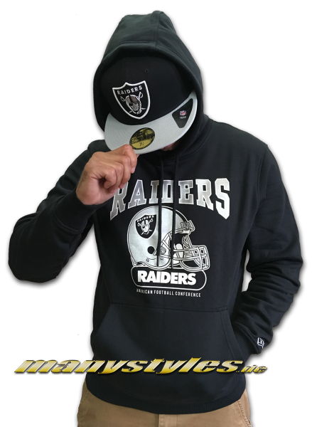 Las Vegas Raiders oder OaklandrRaiders NFL Team Archie Hoodie Hooded Sweater Black Team Color von New Era