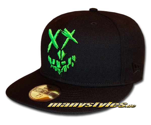 DC Comic Joker Suicide Squad 59FIFTY exclusive Fitted Cap Black Green von New Era