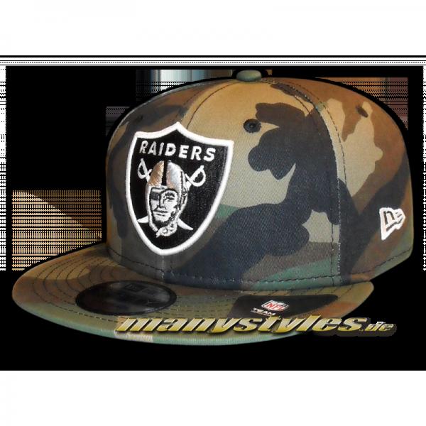 Oakland Raiders NFL League Essential Woodland Camouflage Snapback Cap von New Era