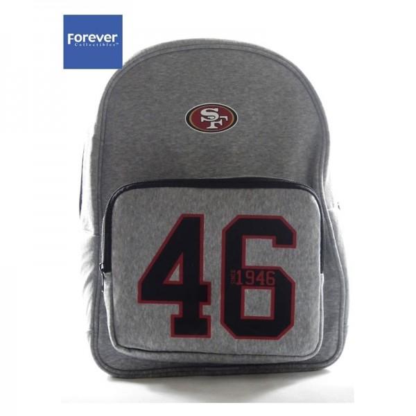 San Francisco 49ers NFL Team Backpack Grey