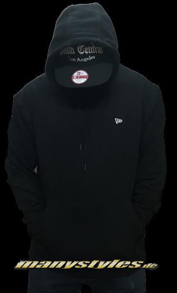 New Era Essential Oversized Hooded Black White