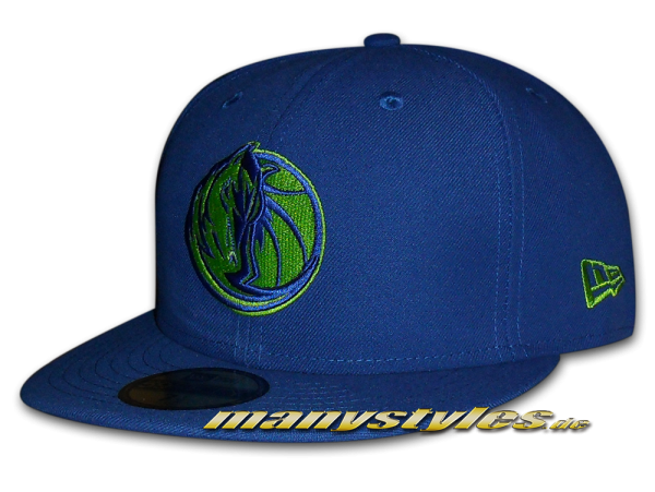 Dallas Mavericks 59FIFTY NBA Season Basic Cap Royal Lime Green