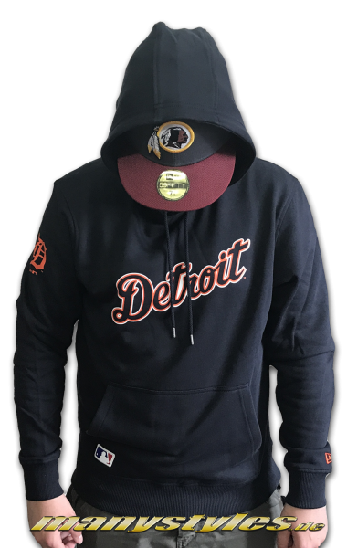 Detroit Tigers MLB Team Apparel Hoody Sweater Navy Orange White Team Color von New era