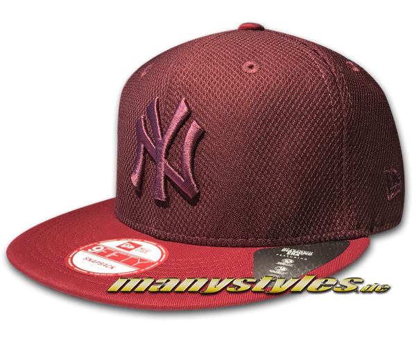 NY Yankees MLB 9FIFTY Diamond Era Mix Snapback Cap Maroon von New Era