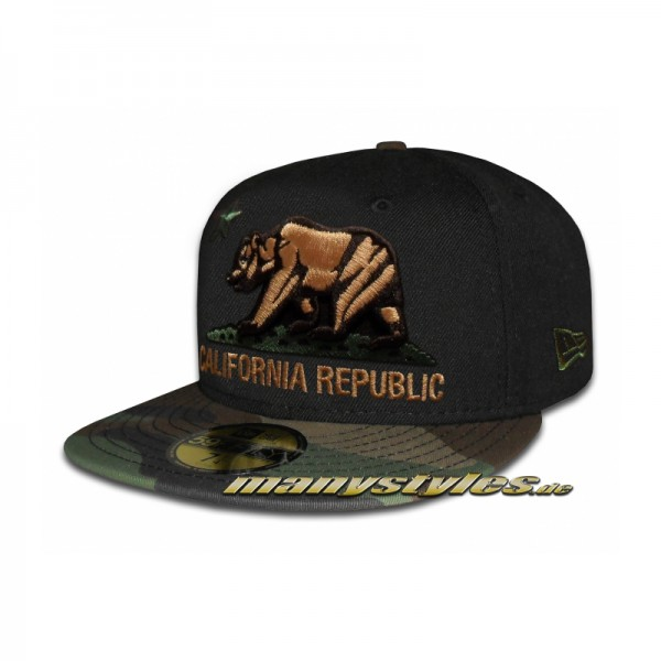 California Republic Cali Bear Camo exclusive Black Woodland Camouflage
