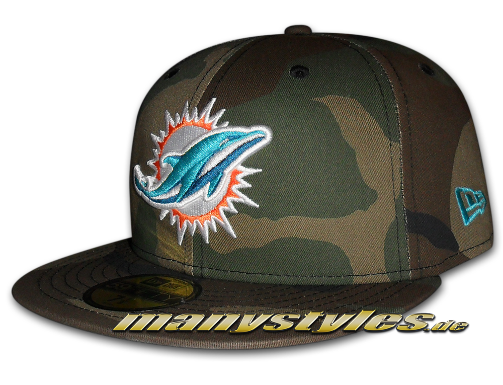 miami dolphins nfl 59fifty basic camo team exclusive cap. Black Bedroom Furniture Sets. Home Design Ideas